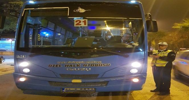 Alkollü yakalanan otobüs şoförünün işine son verildi