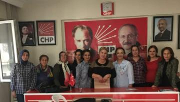 CHP KADINLAR KOLUNDAN KADINA ŞİDDETE TEPKİ