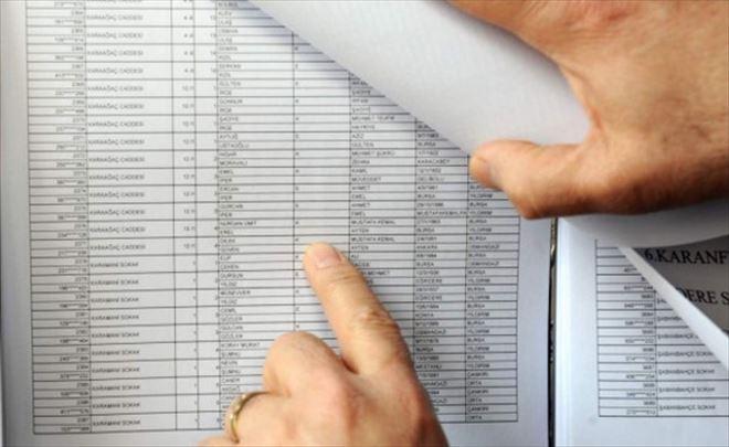 Listeler 17 Ocak'ta Askıdan inecek