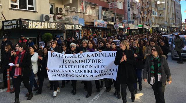 Katledilen Kadınlar İsyanımızdır yürüyüşü