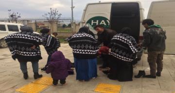 Kırıkhan'da 13 kaçak göçmen yakalandı