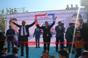 """Güler Reyhanlı'da Savaş bitecek Hatay gülecek"""" sloganları ile karşılandı"""