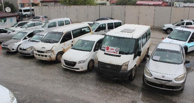 Türkiye'de çalınan araçlar Suriye'de bulundu