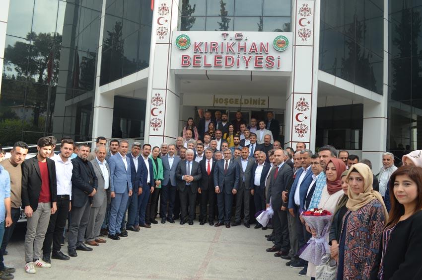 Ak Parti heyetinden  Kırıkhan Belediyesine ziyaret