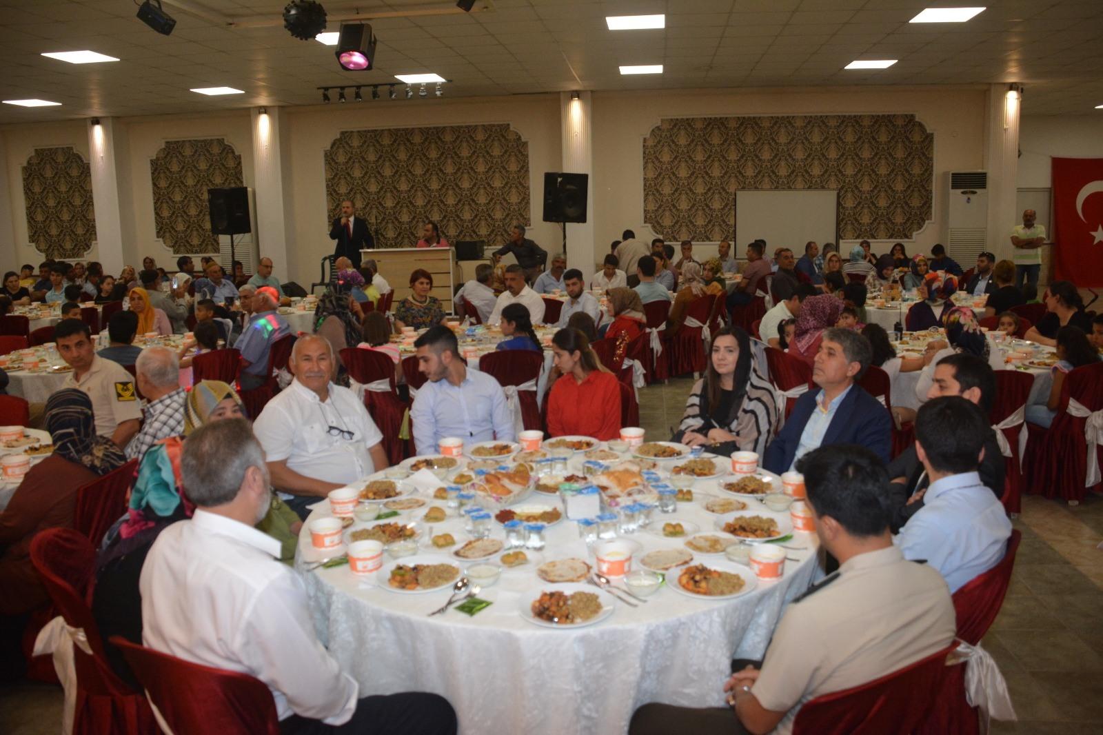 Şehit aileleri ve Gaziler onuruna iftar yemeği verildi