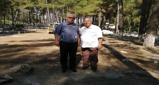 """Yayladağ Belediye Başkanı  Sayın """"Aba Güreşi'ne hizmet için ormanda tesis inşa ediyoruz"""""""