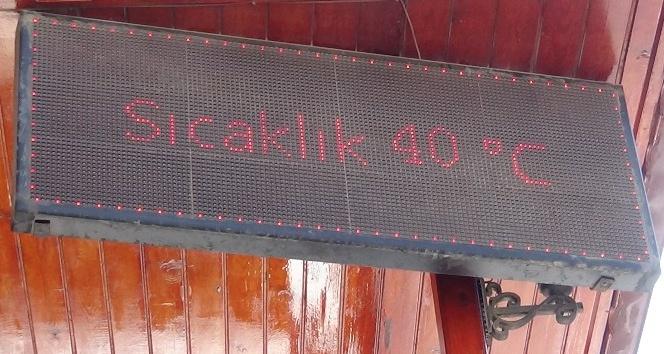 Kırıkhan'da termometreler 40 dereceyi gösterdi