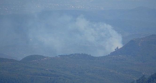 Hatay sınırında orman yangını