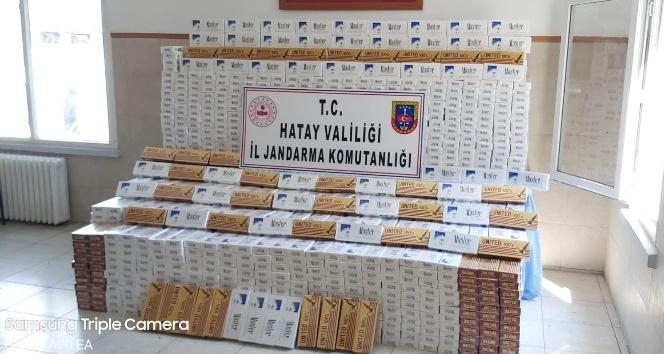 18 bin 750 paket kaçak sigara yakalandı