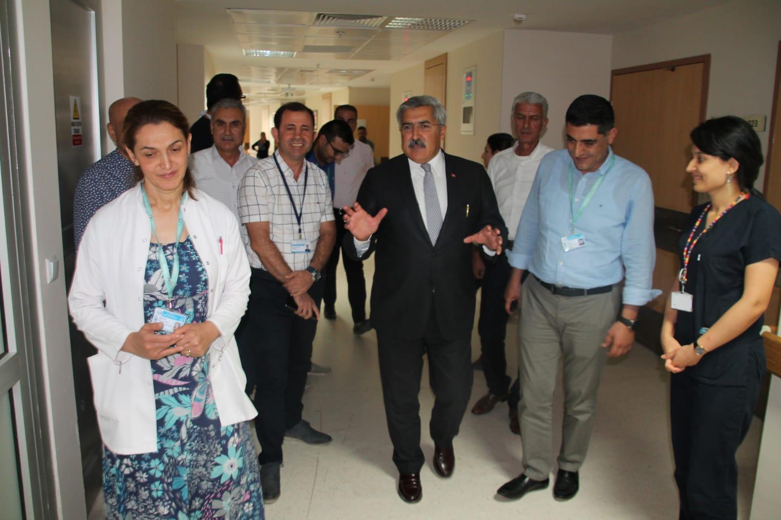 Milletvekili Yayman, Devlet Hastanesini ziyaret etti