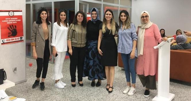 Hatay Barosu'ndan kadına şiddete yönelik bilgilendirme toplantısı