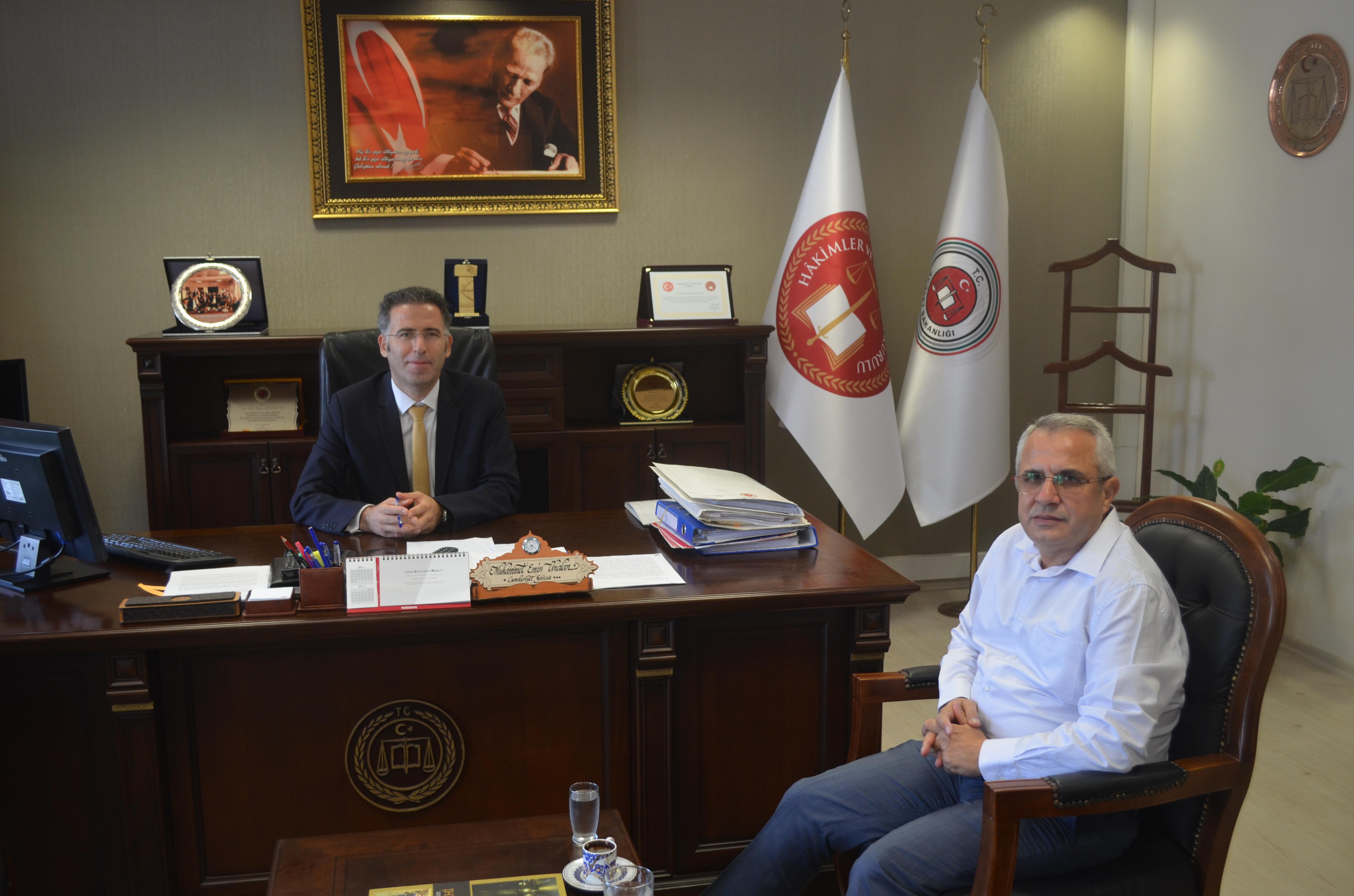 BAŞSAVCI ÜNALAN'A  NEZAKET  ZİYARETİ
