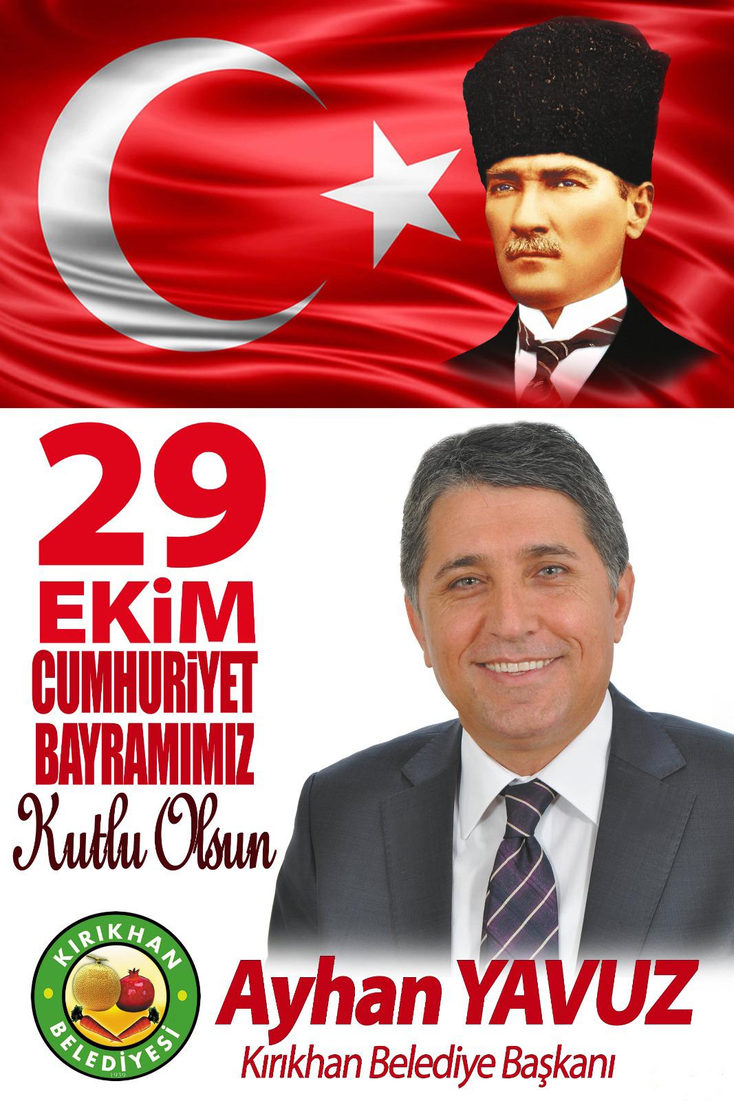 """YAVUZ """"29 EKİM CUMHURİYET BAYRAMIMIZ KUTLU OLSUN"""""""