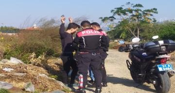Samandağ'da polisten okul çevresinde denetim