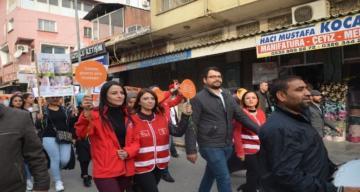 """Kırıkhan'da """"Kadına Şiddete Sıfır Tolerans"""" yürüyüşü"""