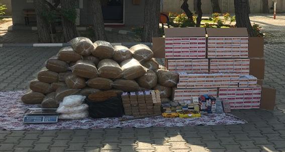 Kırıkhan'da 350 kilo kaçak tütün ele geçirildi