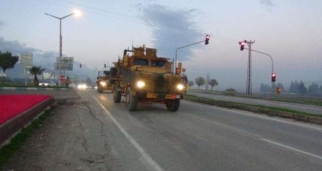 Sınıra zırhlı araç sevkiyatı sürüyor