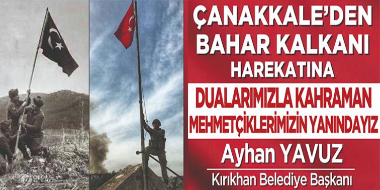 """BAŞKAN YAVUZ """"ÇANAKKALE ZAFERİ TÜRK'ÜN ZAFERİDİR''"""