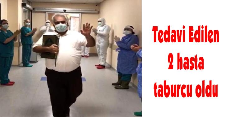 Hatay'da koronavirüs tedavisi tamamlanan iki hasta alkışlarla taburcu oldu