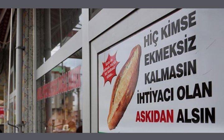 """Kırıkhan'da  """"Askıda Ekmek"""" Kampanyası Başlatıldı"""
