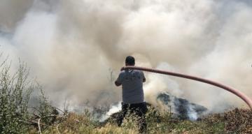 Samandağ'da ot yangını korkuttu