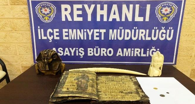 Reyhanlı'da tarihi eser operasyonu