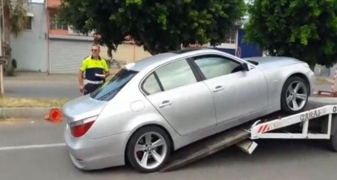 Drift atarak polisten kaçan sürücüye 6 bin 561 TL para cezası
