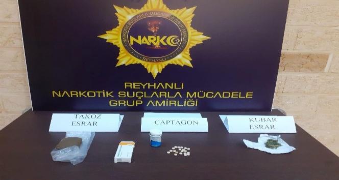 Reyhanlı'da uyuşturucu operasyonları: 2 gözaltı