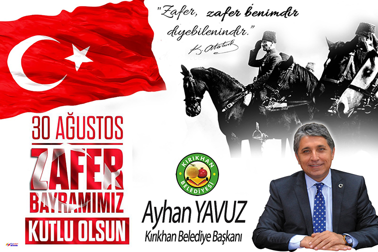 """YAVUZ """"30 AĞUSTOS TARİH SAHNESİNDEN SİLİNDİĞİ DÜŞÜNÜLEN BİR ULUSUN ŞAHLANIŞIDIR"""""""