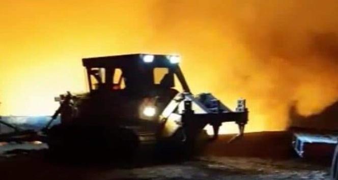Hatay'daki orman yangınında arazöz kaza yaptı