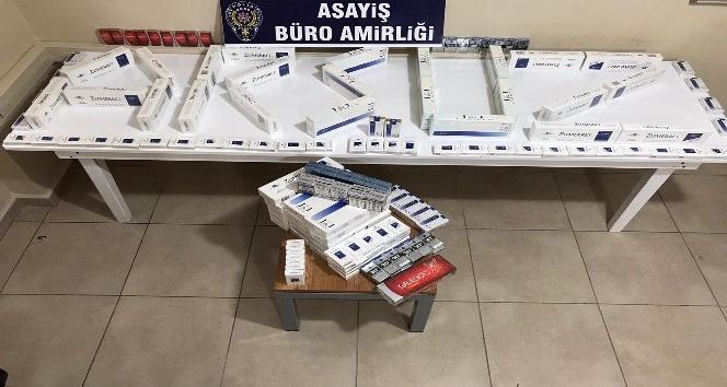 Arsuz'da kaçak sigara operasyonu