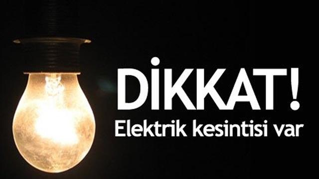 Kırıkhan'da 2 Mahallede Elektrik Kesintisi