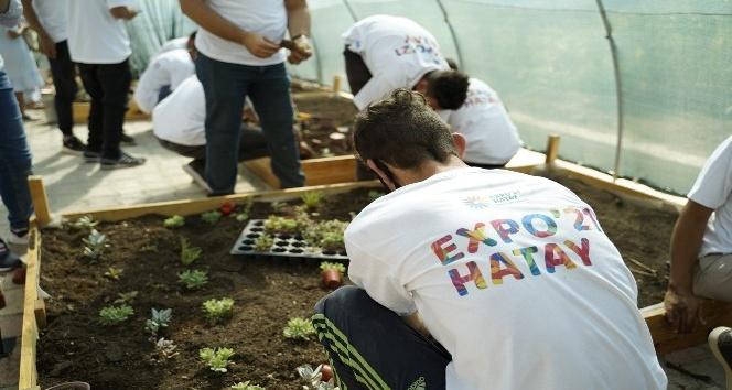 Özel öğrenciler EXPO 2021 için bitki üretimine başladı