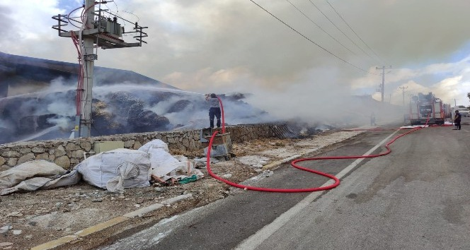 Hatay'da Organize Sanayi Bölgesinde fabrika yangını