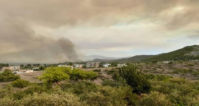 Orman yangını Arsuz'a doğru ilerliyor