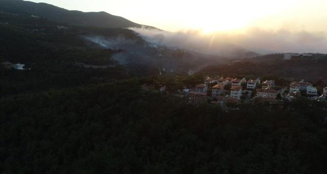 Hatay'daki orman yangını drone ile görüntülendi