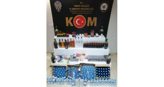Hatay'da kaçak içki operasyonu: 8 gözaltı