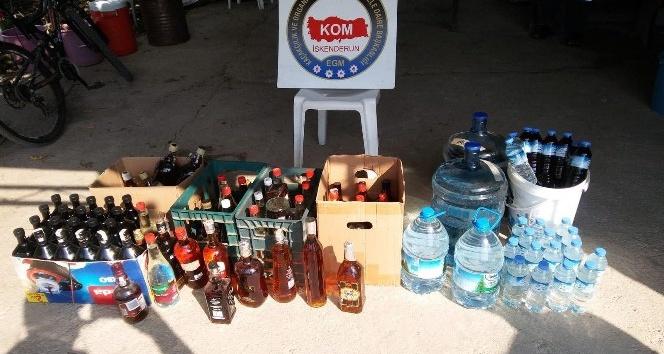 2 bin 390 litre el yapımı içki ele geçirildi