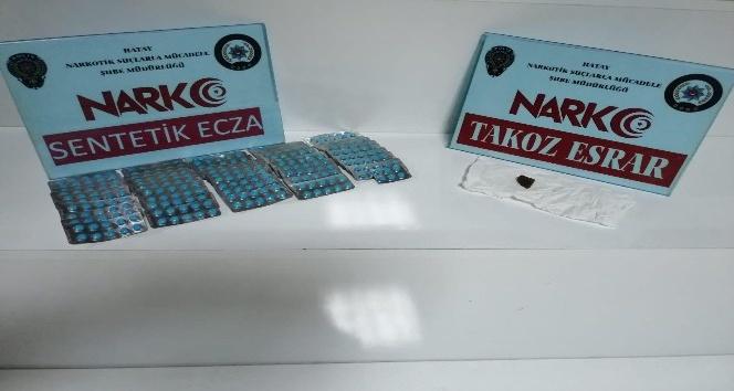Hatay'da 496 adet özel reçeteye tabi ilaç ele geçirildi