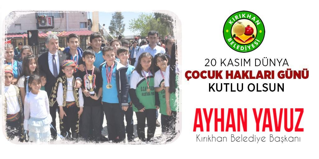 Başkan Yavuz'dan Dünya Çocuk Hakları Günü Mesajı