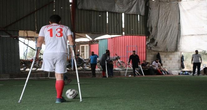 Afrin'de Dünya Engelliler Günü'nde ampute takımlarının motivasyon maçı