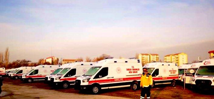 HATAY'A  35 AMBULANS  TAKVİYESİ YAPILDI