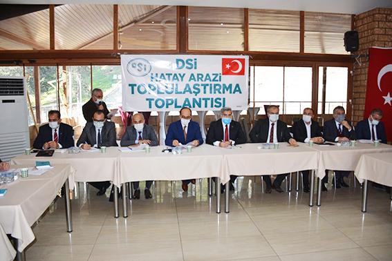 KIRIKHAN'DA ARAZİ TOPLULAŞTIRMA TOPLANTISI YAPILDI