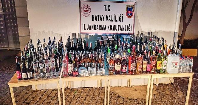 Hassa'da kaçak içki operasyonu