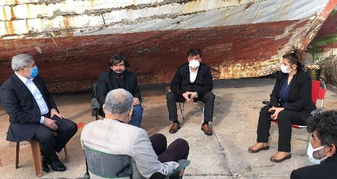 Milletvekili Yayman'dan Denizde kaybolan gencin ailesine ziyaret