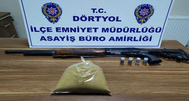 Dörtyol'da 1 kilo 100 gram kannabinoid uyuşturucu ele geçirildi