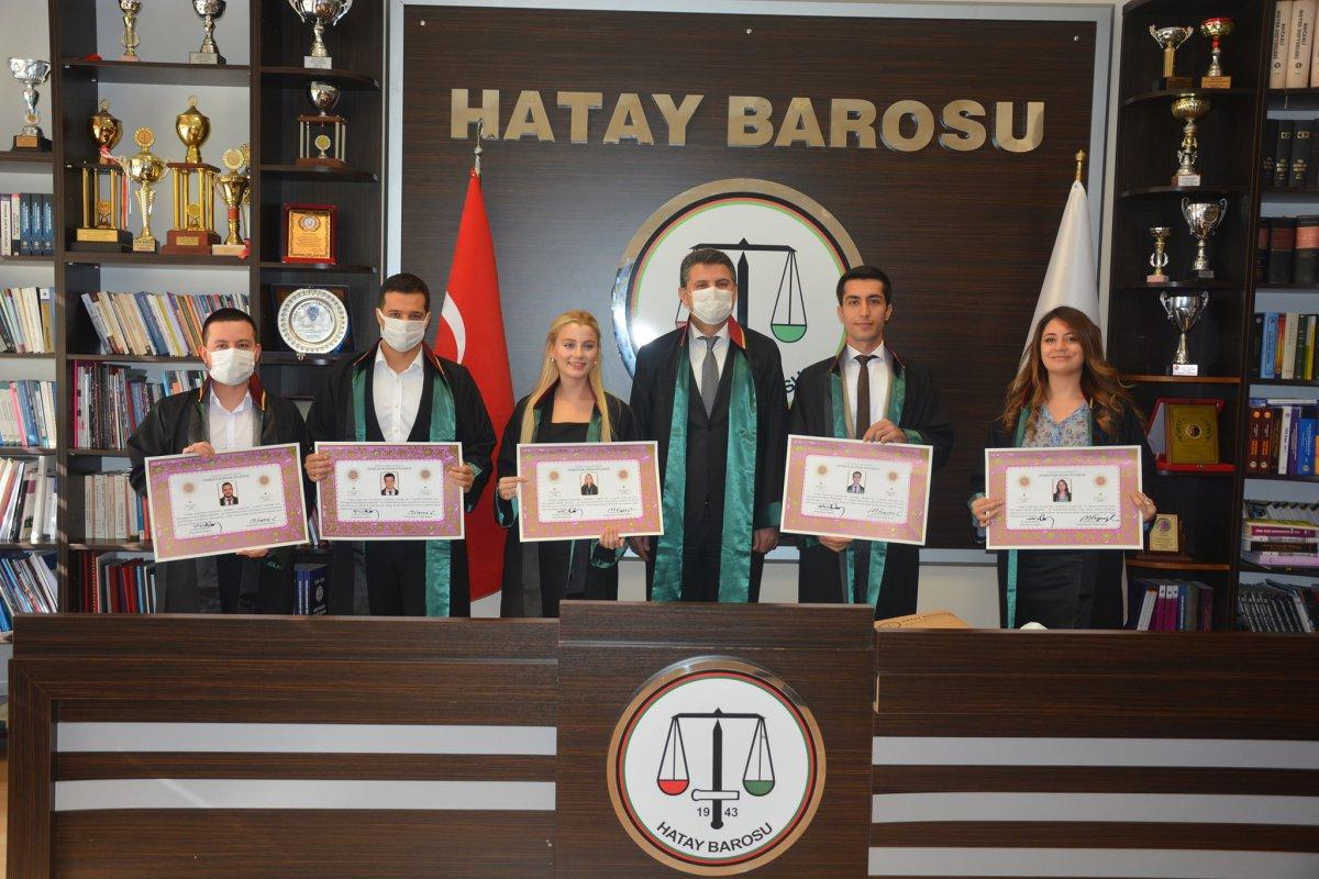 HATAY BAROSU'NA 5 YENİ AVUKAT