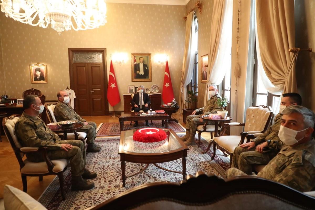 2. Ordu Komutanı Orgeneral Metin Gürak'tan Vali Doğan'a Ziyaret