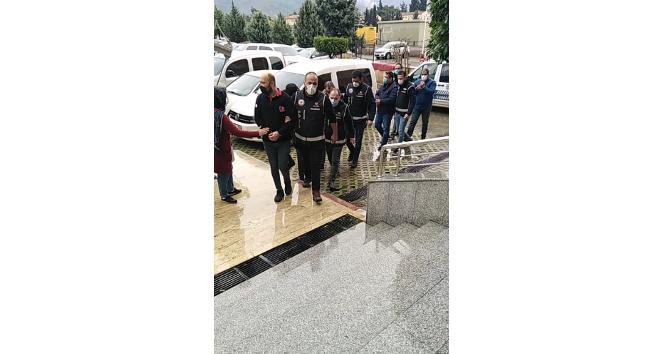 Hatay'da suç örgütüne 3 tutuklama