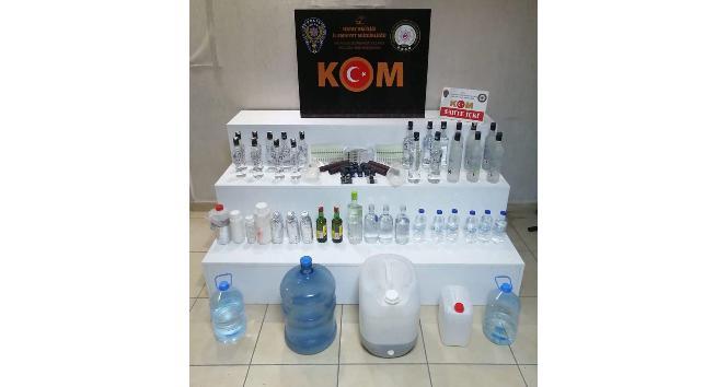 Hatay'da kaçak ve sahte içki operasyonu: 4 gözaltı